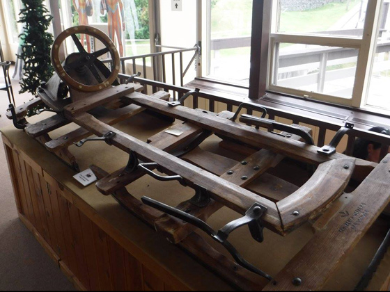 At the Sports Complex Museum: circa 1930s German bobsled