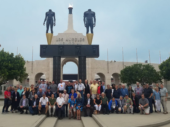 Group shot at the LA Coliseum