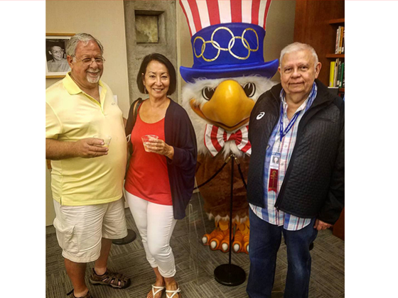 With Sam the Eagle at the LA84 Foundation reception