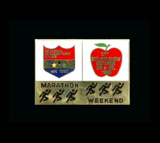 1985 New York City Marathon Pin Show - cloisonne (300)
