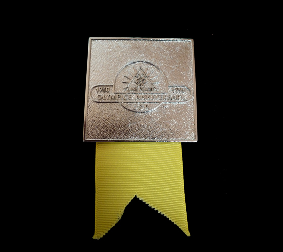 1990 2nd National Olympin Convention, Lake Placid (detail-yellow ribbon)